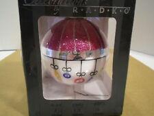 2008 Celebrations by Christopher Radko Glass Ball Christmass Tree Ornament