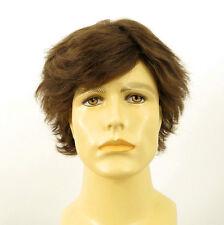 Perruque homme 100% cheveux naturel châtain clair ref REMI 8