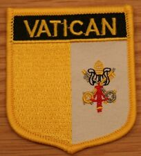 VATICAN CITY Shield Country Flag Embroidered PATCH Badge P1