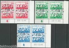 SERVICES CONSEIL DE L'EUROPE 93 à 95 coins datés Oblit. 1er jour