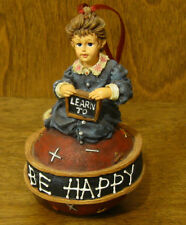 Boyds Dollstone Ornament #25855 Michelle.Reading Is Fun, Nib From Retail Store