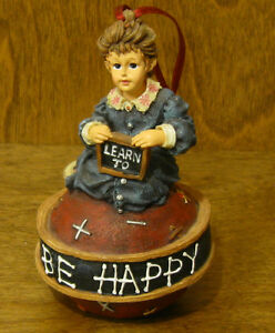 Boyds Dollstone Ornament #25855 MICHELLE...READING IS FUN, NIB From Retail Store