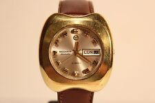 "VINTAGE RARE BIG MEN'S SWISS GOLD PLATED AUTOMATIC WATCH ""RODANIA""DREAMATIC 21 J"