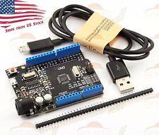 Arduino UNO R3 Compatible ATmega328P Board CH340 Micro USB Connector + Cable