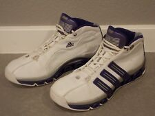 Adidas Men's A3 Superstar Basketball Shoes Size 11 Purple White Mid Top 2005