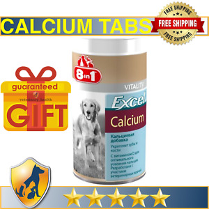 Calcium for Dogs - calcium vitamins supplement 8 in 1 for puppies and adult dogs