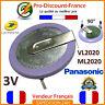 Pile Bouton PANASONIC Accu Batterie VL2020 ML2020 Pour clé BMW MINI Rechargeable