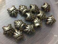 Vintage Sample Card Trade Silver Metal Ornate Bali Design 3 D Unique Bead Lot