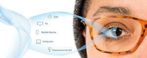Reglaze Glasses Specs PREMIUM 'Blue Light Filter' Anti Glare UV Protect Lenses