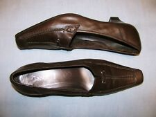 GABOR Fashion Brown Leather Heels Size 7.5 US 38.5 EUR