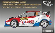 DECALS 1/43 FORD FIESTA WRC #10 - KUBICA - RALLYE ADAC 2014 - MF-ZONE D43341