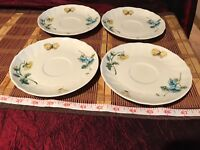 """4 Villeroy & Boch BOUQUET Saucers only, 6"""""""