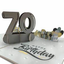 70th Birthday 3D pop up card