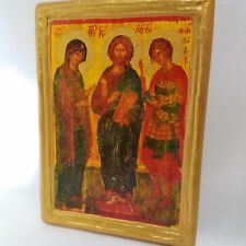 Saint Fanourios Phanourios Jesus & Mary Byzantine Greek Orthodox Rare Icon Art
