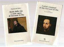 Lorenzo Giuliani e Francesco de Castro - 2 libri su san Giovanni da Dio-fbvendu