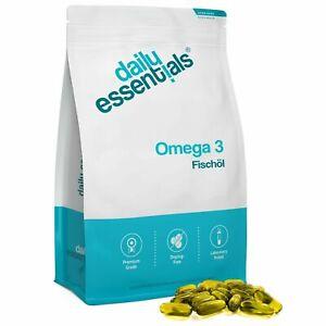 OMEGA 3 Olio di Pesce 500 softgels 1000 mg EPA DHA Colesterolo pastiglie capsule