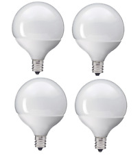4x Ge 34739  Soft White Led G16 Candelabra Light Bulb, 5 W - 40W Replacement