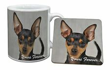 Miniature Pinscher 'Yours Forever' Mug+Coaster Christmas/Birthday Gif, AD-MP1yMC