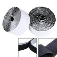 Heavy Duty Self Adhesive Sticky Back Hook & Loop Fastening Tape Black 25/ 50mm
