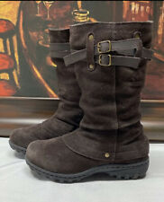 khombu womens Brown Leather boots Size 6