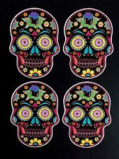 SUGAR SKULLS 5.5cm x 4cm Day Of The Dead Stickers TATTOO STYLE  Laptops