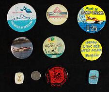 Lot of 9 Seattle Seafair, Rainier Cup Metal & Plastic Pins 1965-1988 Unmarked Yr
