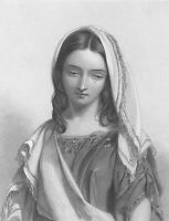 SHAKESPEARE Titus Andronicus PRETTY CUTE GIRL LAVINIA ~ 1850 Art Print Engraving