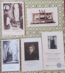 228) Lot of 5 holy card Relic Saint Bernadette Soubirous  Maria Bernard