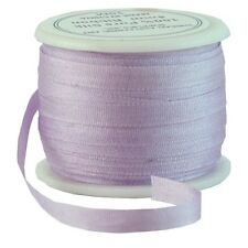 11 YDS (10 M) EMBROIDERY SILK RIBBON 100% SILK 4MM - PALE LAVENDER -by THREADART