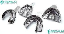 4 Pcs Impression Large Trays Upper Lower Dental Surgical Premium Instruments