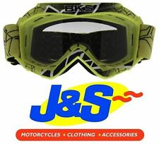 BKS KIDS MX GOGGLES MOTOCROSS GOGGLE MOTORBIKE MOTORCYCLE OFF-ROAD YELLOW J&S