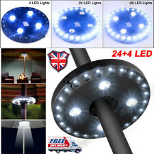 Cordless 28 LED Umbrella Pole Lights 3 Level Dimming Parasol Camping Tents Lamp