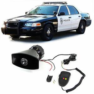 Multi US Polizeisirene Fanfare Hupe mit Mikrofon + Durchsprechfunktion für Party