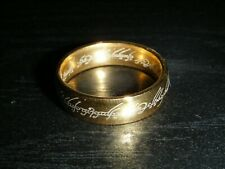 """LOTR Lord Of The Rings """"One Ring"""" 18k Gold Plated Stainless Steel SIZE 10"""