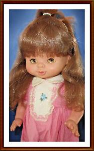 alte vintage FAMOSA Puppe (Laufpuppe? Sprechpuppe? Sally? SPAIN?) ca. 44 cm groß
