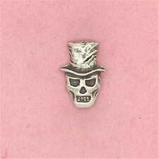 ENGLISH PEWTER - BARON SAMEDI - LAPEL PIN BADGE GOTH DEATH HALLOWEEN SKULL