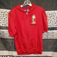 Grumpy Dwarf Disney Funny Graphic Womens 1X Red Hoodie Full Zip Cotton