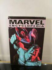 Marvel Encyclopedia HULK AVENGERS SPIDER-MAN Hardcover Signed BY ALEX ROSS~