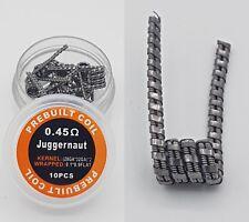 10x Juggernaut Fertigwicklung Coils 0,45Ohm Selbstwickler Draht Verdampfer