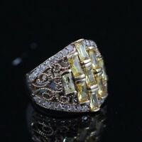 925 Sterling Silver Handmade Authentic Turkish Quartz Ladies Ring Size 6-10