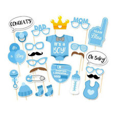 25Pcs Baby Shower Photo Booth Props, Baby Boy Decorations Party Festival Props