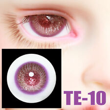 TATA glass eyes TE-10 14mm/16mm for BJD SD MSD 1/3 1/4 size doll use purple+red