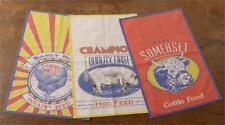 New Farm Animals FEEDSACK Tea Towels Chicken Pig Cow Kitchen Dish Hand Towels