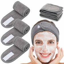 Whaline 4 Counts Spa Facial Headband Head Wrap Terry Cloth Headband Stretch