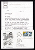 SCOTT #C76 APOLLO 11 FIRST MAN ON THE MOON 1969 FDC + AYERST COMMERCIAL LETTER