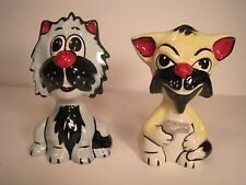 Lorna Bailey Cat Figurines (2) - Hand Made and Hand Painted In England