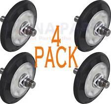New listing 4 Pack 4581El2002D Dryer Drum Roller Wheel & Shaft Kit Fits Lg Kenmore Sears