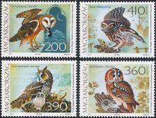 Hungary 2017 Barn/Tawny/Little/Owl/Birds/Raptors/Nature/Owls 4v set (hx1028)