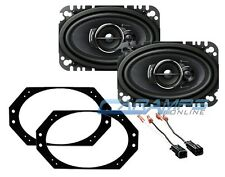 NEW PIONEER DASH CAR STEREO SPEAKERS W MOUNTING & HARNESS SET FOR 97-06 WRANGLER
