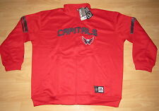 WASHINGTON CAPITALS NHL WARM-UP TRACK JACKET MENS 5XL